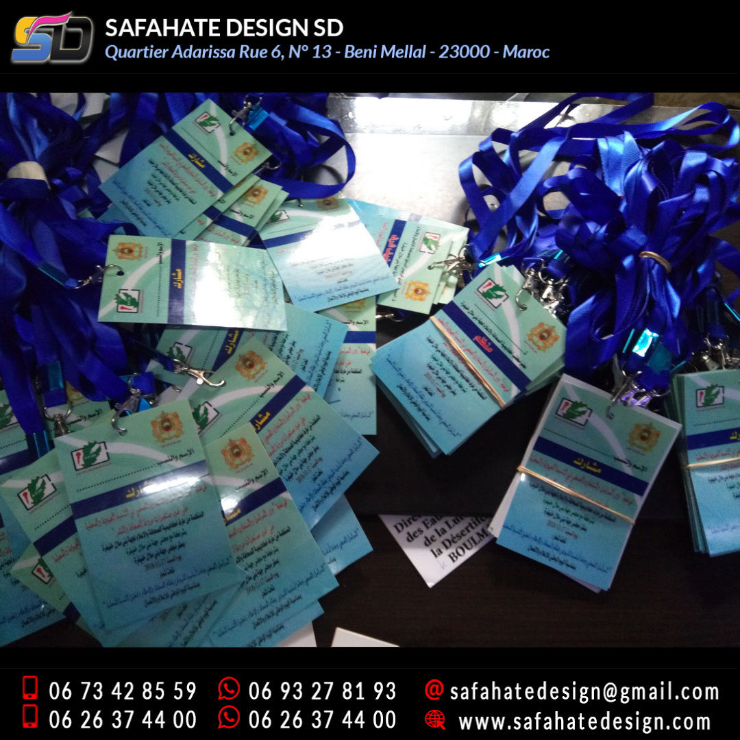 impression badges safahate design beni mellal _07