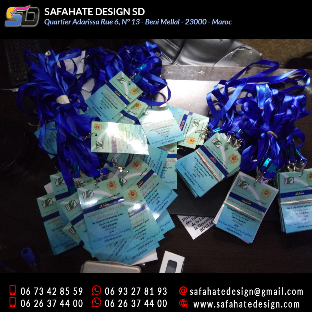 impression badges safahate design beni mellal _09