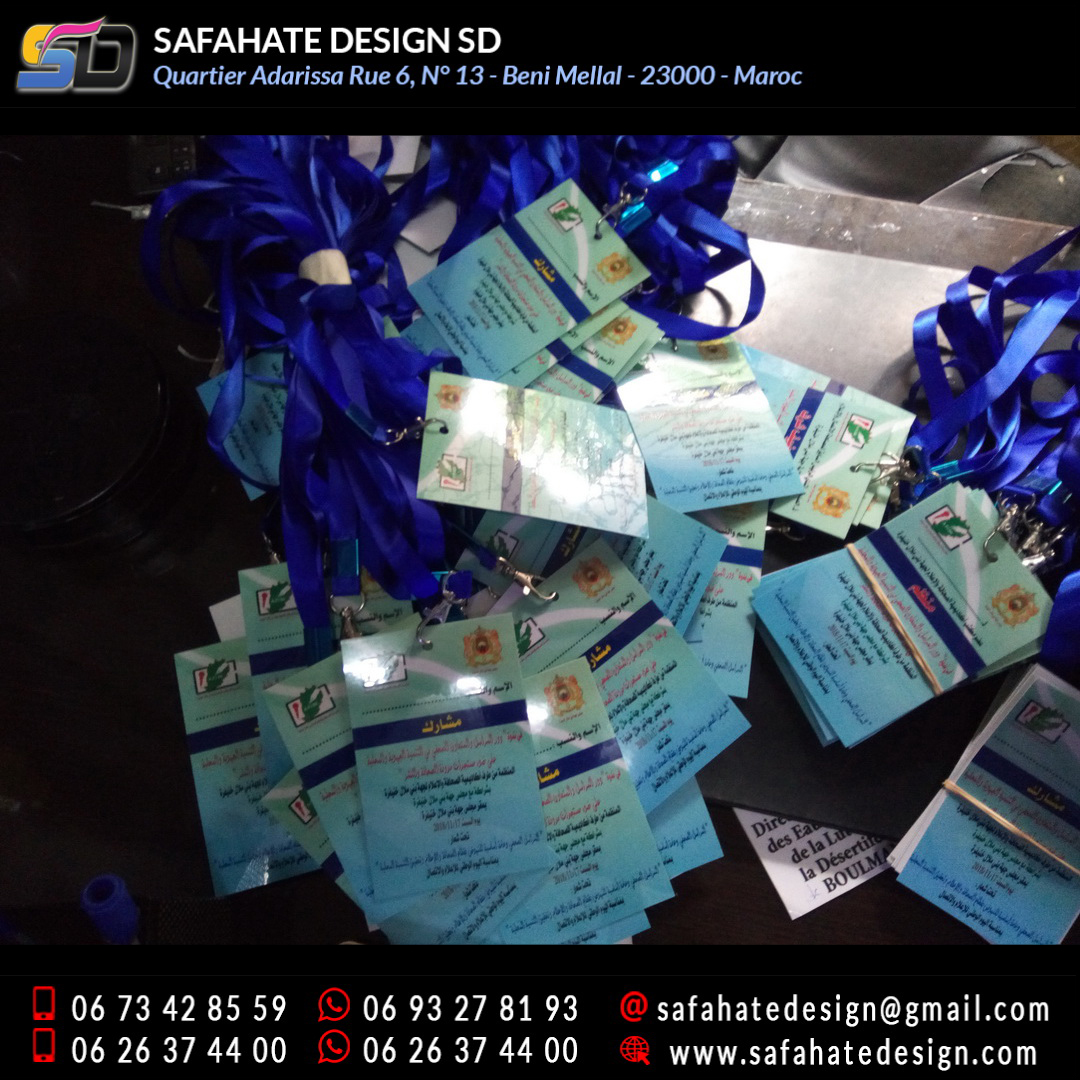 impression badges safahate design beni mellal _10