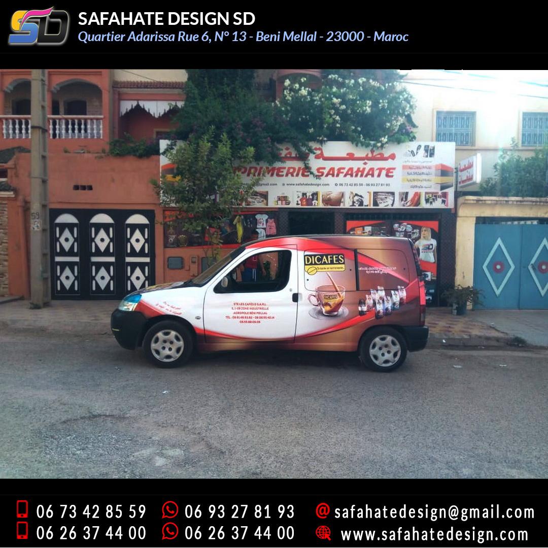Habillage vehicule vinyl adhésif imprimerie safahate design beni mellal (10)