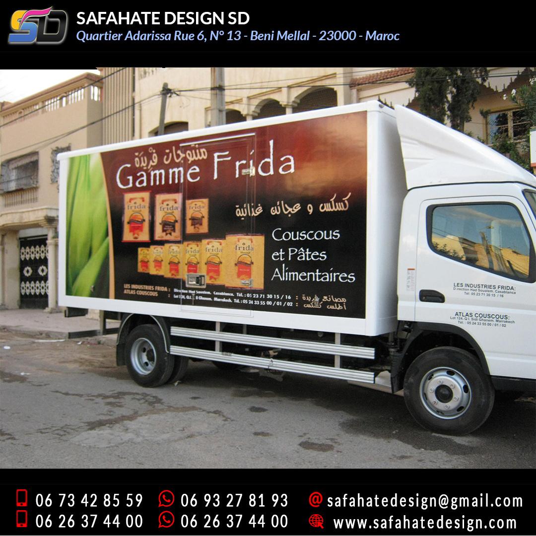 Habillage vehicule vinyl adhésif imprimerie safahate design beni mellal (11)
