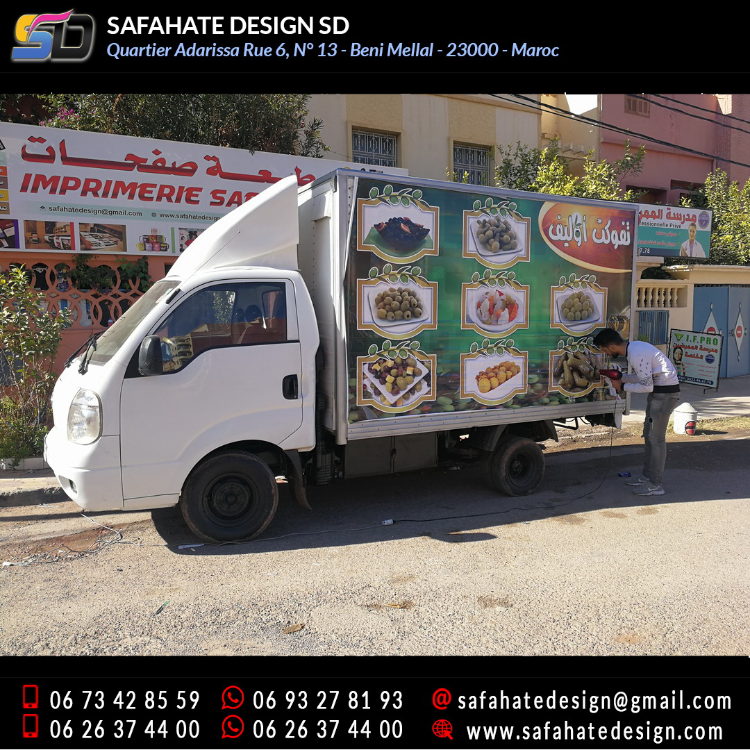 Habillage vehicule vinyl adhésif imprimerie safahate design beni mellal (13)