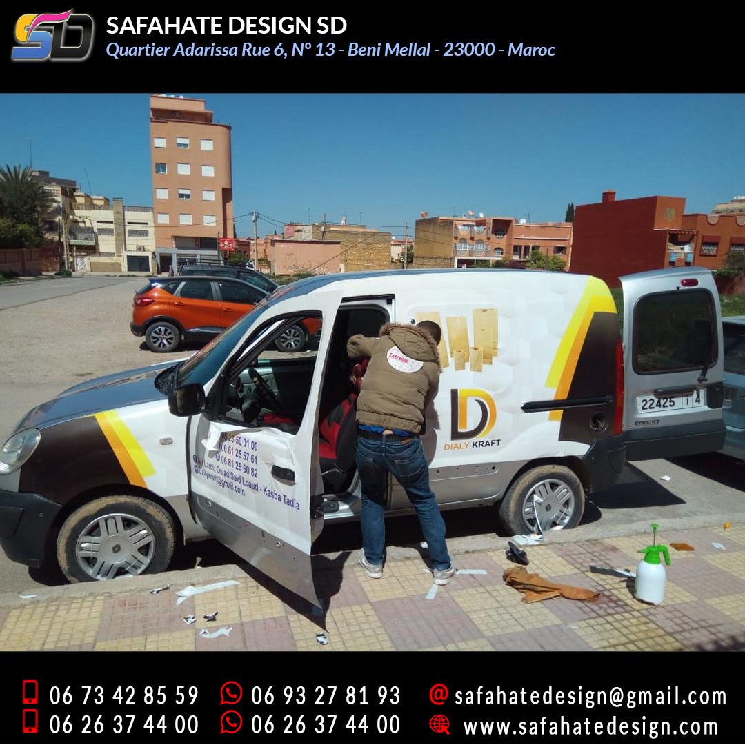 Habillage vehicule vinyl adhésif imprimerie safahate design beni mellal (16)