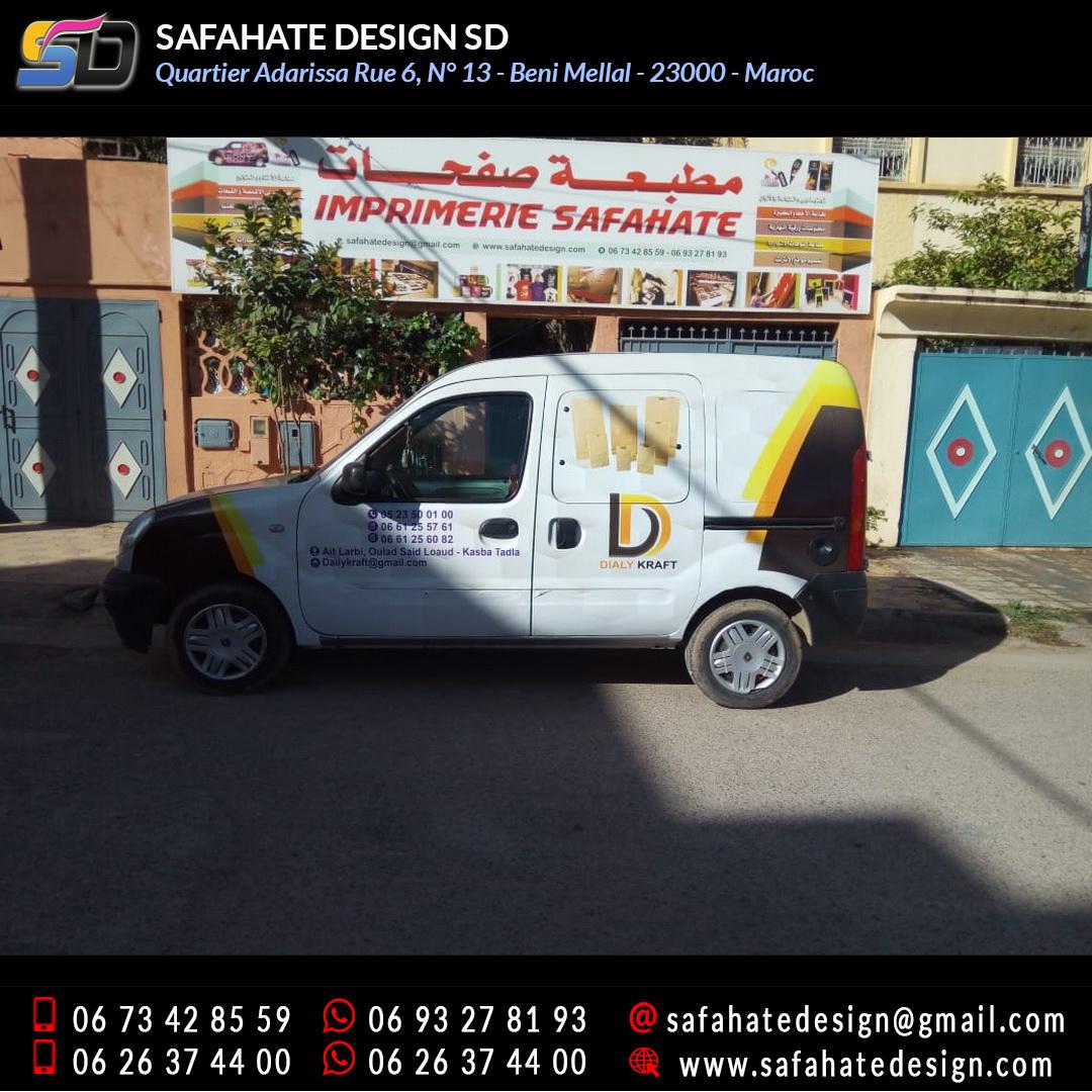 Habillage vehicule vinyl adhésif imprimerie safahate design beni mellal (20)