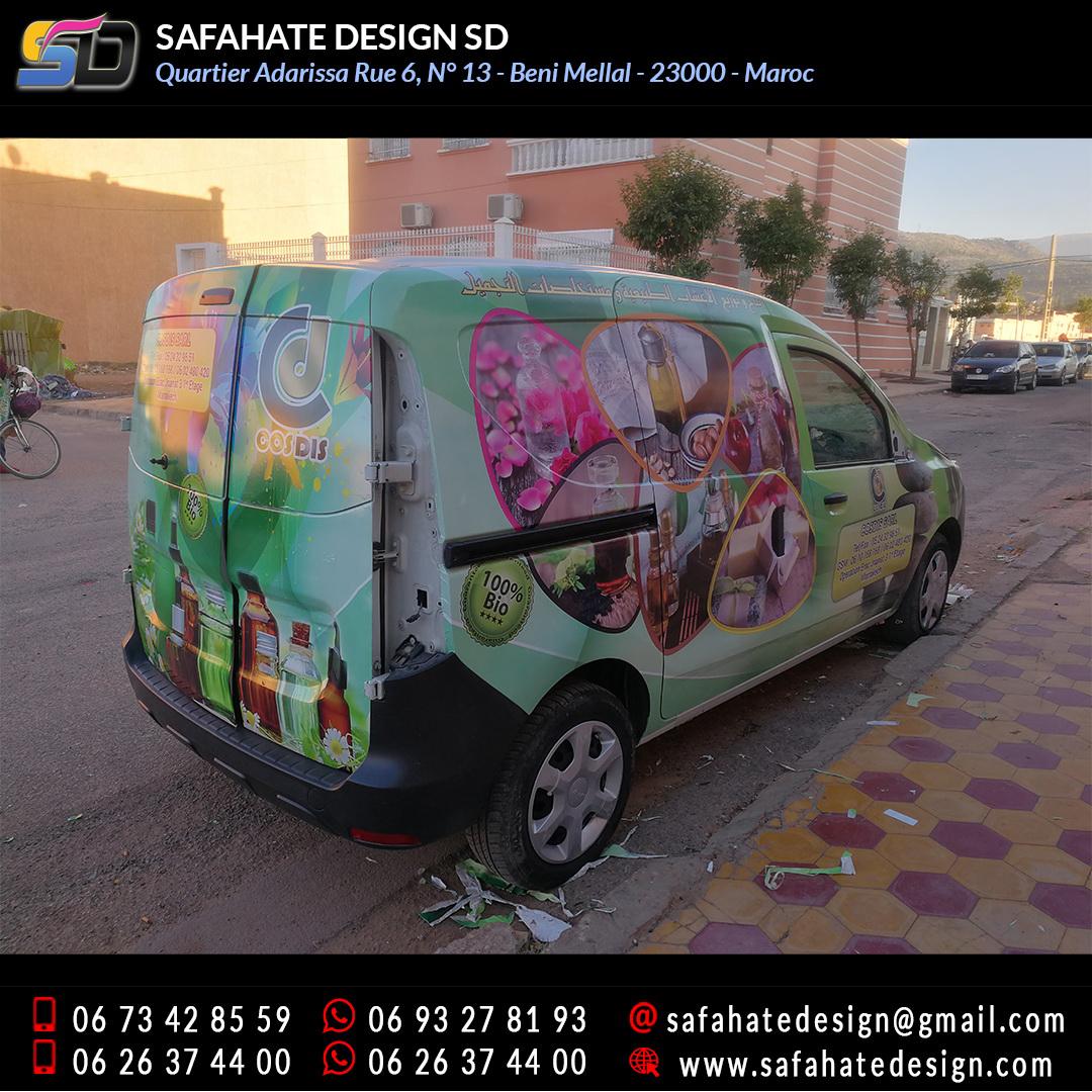 Habillage vehicule vinyl adhésif imprimerie safahate design beni mellal (21)