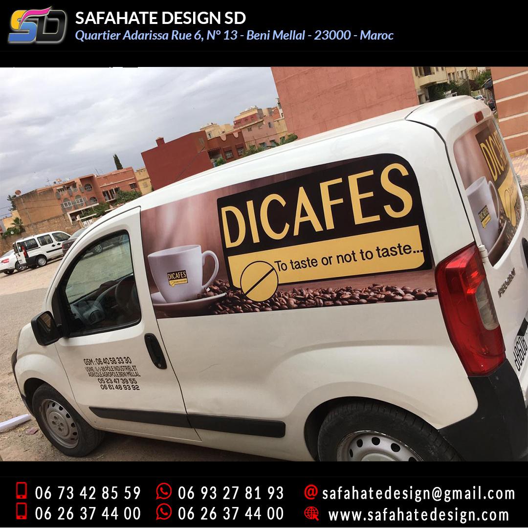Habillage vehicule vinyl adhésif imprimerie safahate design beni mellal (5)