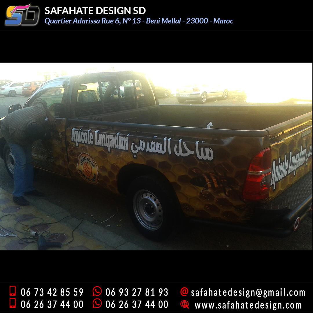 Habillage vehicule vinyl adhésif imprimerie safahate design beni mellal (7)