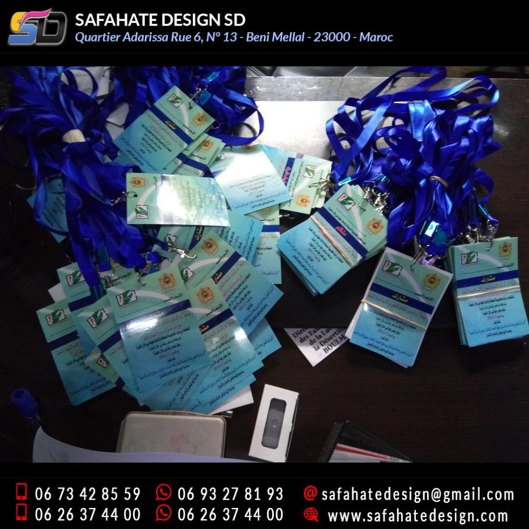 impression badges safahate design beni mellal _13