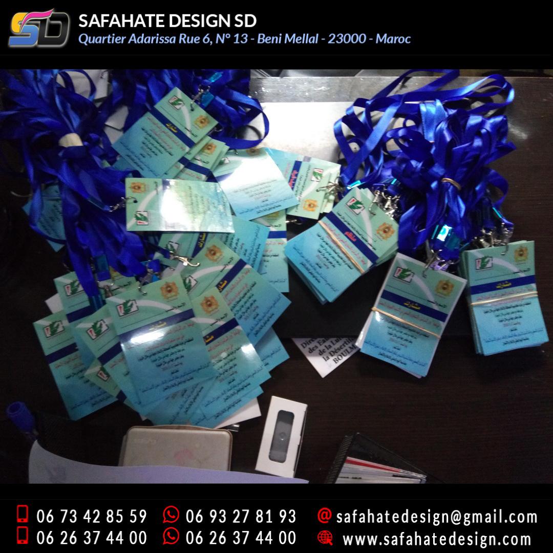 impression badges safahate design beni mellal _14