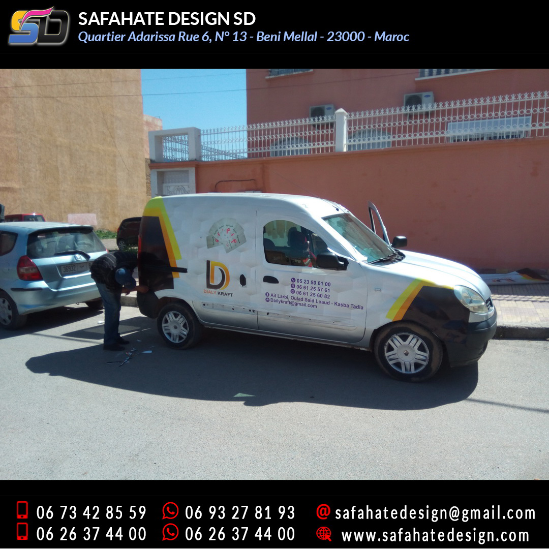 Habillage vehicule vinyl adhésif imprimerie safahate design beni mellal (22)